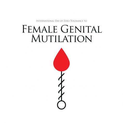 Zero Tolerance for Female Genital Mutilation. Stop female genital mutilation. Zero tolerance for FGM. Stop female circumcision, female cutting stock illustration